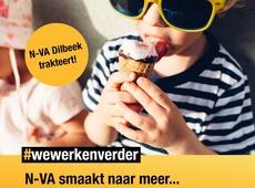 N-VA trakteert op een ijsje in Dilbeek!